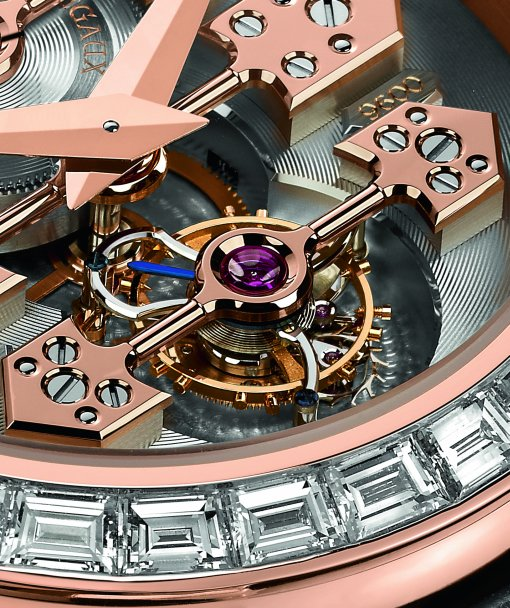 Girard-Perregaux Tourbillon with Three Gold Bridges Watch with Diamonds - Detail