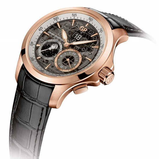 Girard-Perregaux Traveller Large Date, Moon Phases & GMT Rose Gold Watch