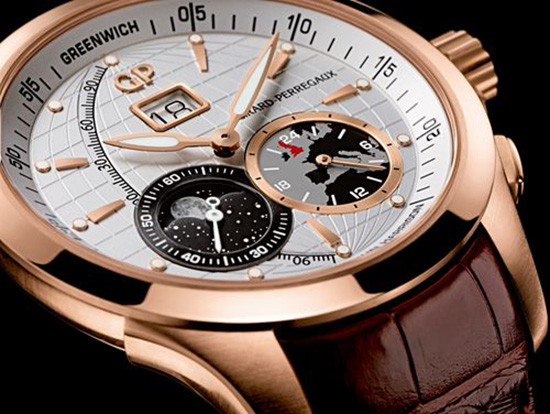 Girard-Perregaux Traveller Large Date, Moonphase & GMT Watch Dial