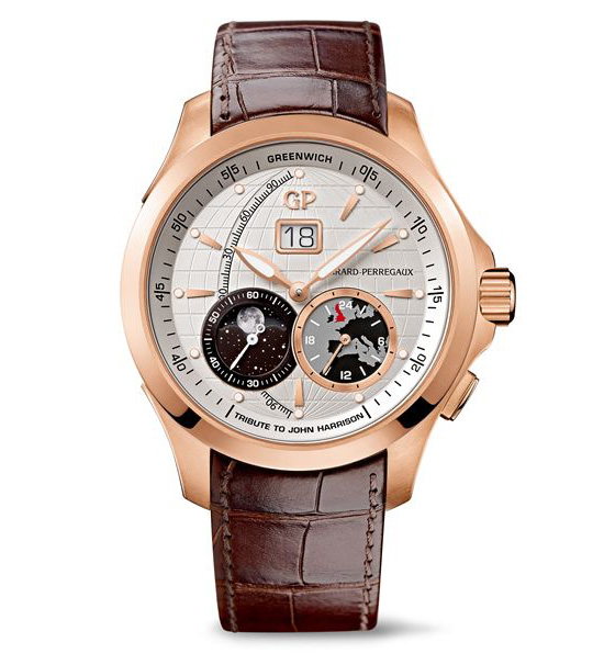 Girard-Perregaux Traveller Large Date, Moonphase & GMT Watch
