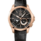 Girard-Perregaux Traveller Large Date, Moonphase & GMT Black Dial Watch Front