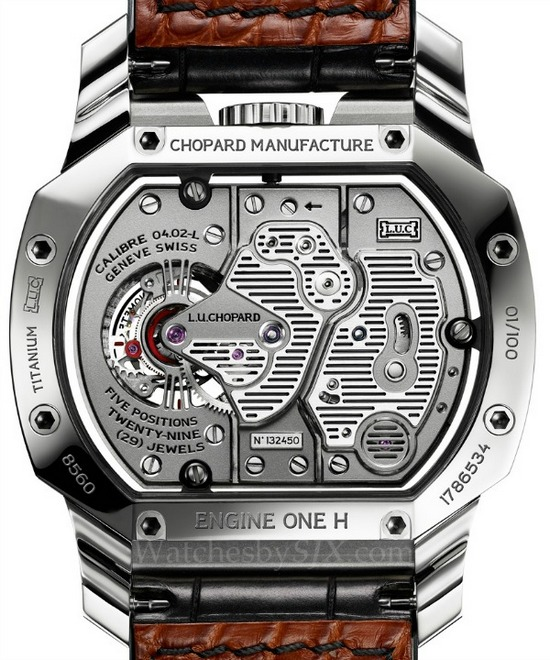 Chopard L.U.C. Engine One H Watch Caseback