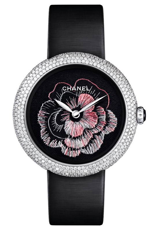 Chanel Mademoiselle Prive Camelia Brode Watch