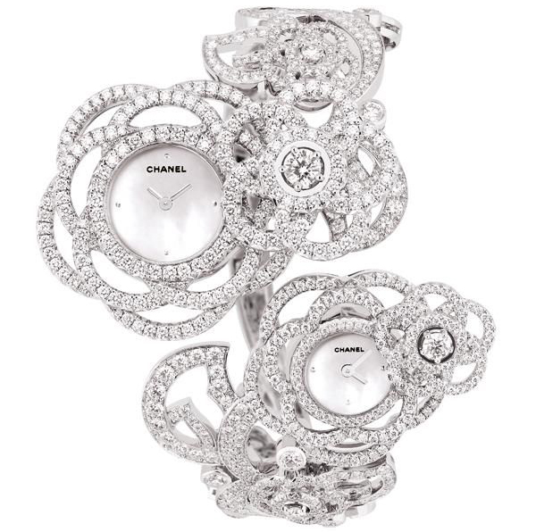 Chanel Camelia Brode Dual Time Watch