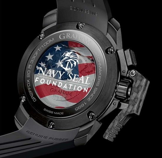 Graham Chronofighter Oversize Navy SEAL Foundation Watch Case Back