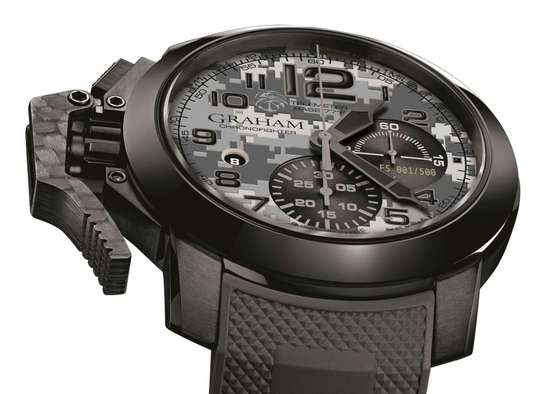 Graham Chronofighter Oversize Navy SEAL Foundation Watch Dial