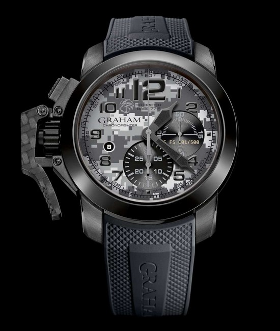 Graham Chronofighter Oversize Navy SEAL Foundation Watch Front