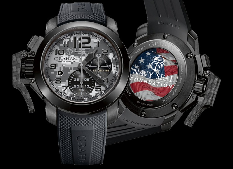 Graham Chronofighter Oversize Navy SEAL Foundation Watch