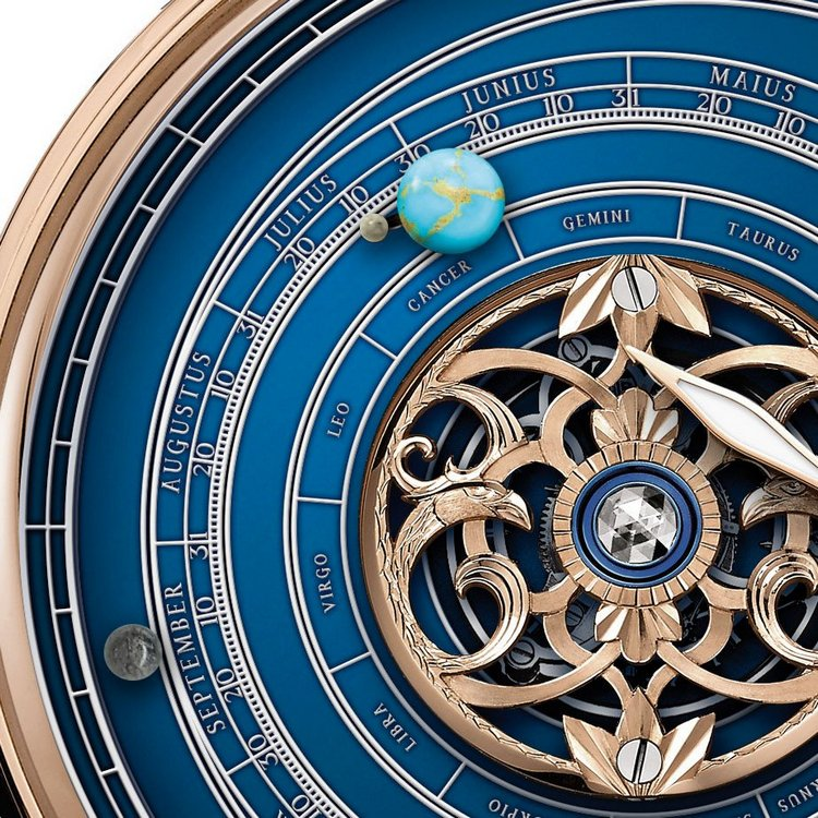 Graham Geo.Graham Orrery Tourbillon Watch Detail