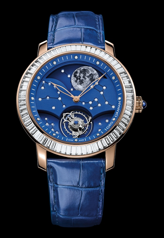 Graham Geo.Graham The Moon Watch with Diamonds