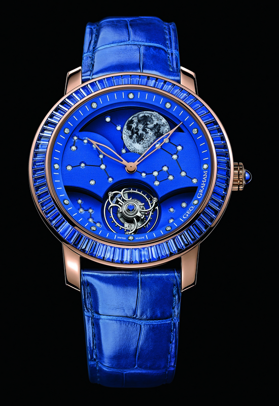 Graham Geo.Graham The Moon Watch with Sapphires Front