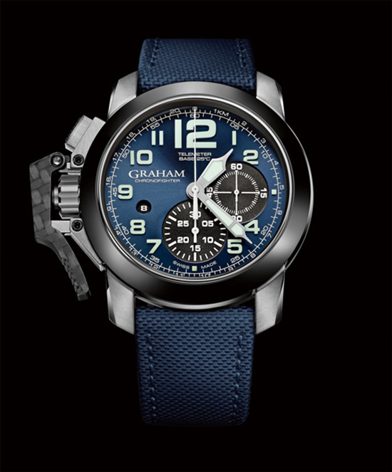 Graham Chronofighter Oversize Generation II Blue Dial Watch