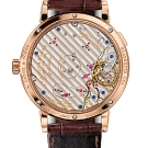 A. Lange & Sohne Grand Lange 1 Moon Phase Rose Gold Watch Back