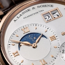 A. Lange & Sohne Grand Lange 1 Moon Phase Rose Gold Watch Dial Detail