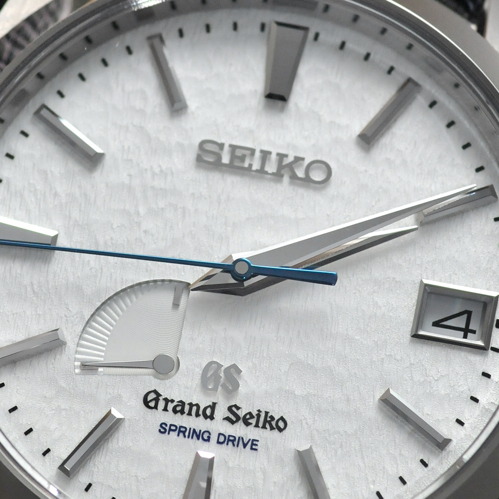 Grand Seiko Spring Drive Titanium Watch dial detail