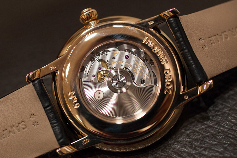 Jaquet Droz Grande Heure GMT Watch Back