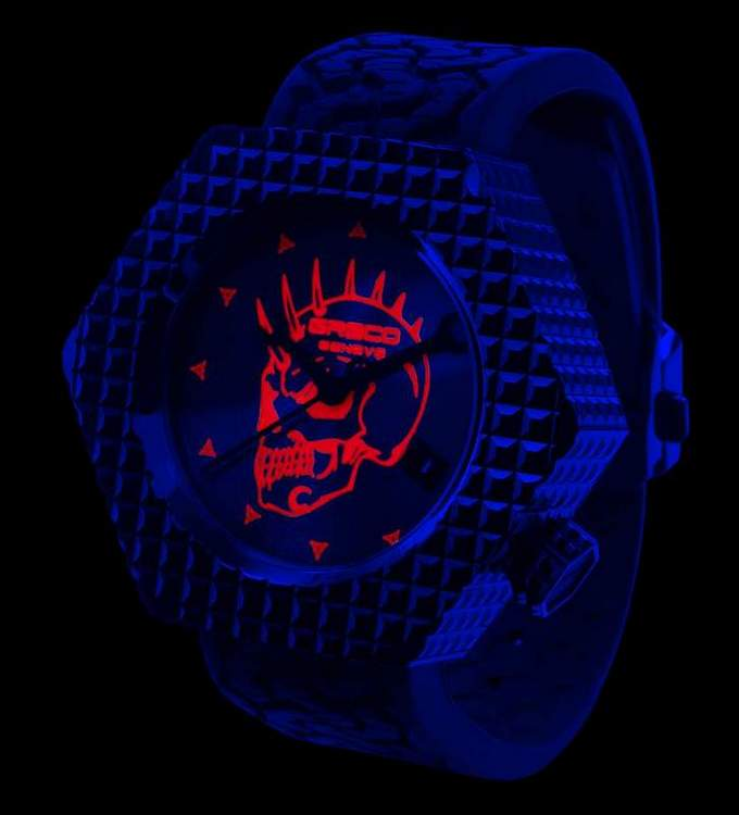 Greco Genève Les Temps Modernes LTM-22t Watch - under UV light