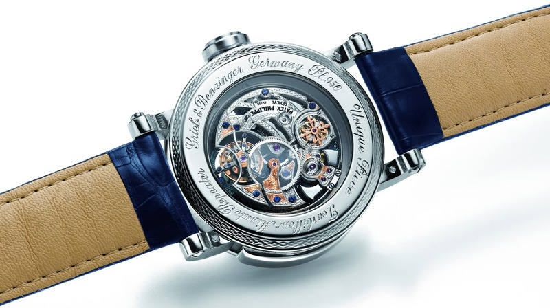 "Grieb & Benzinger ""Blue Whirlwind"" Tourbillon Minute Repeater Watch Back"