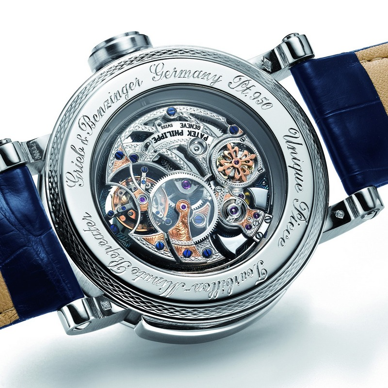 "Grieb & Benzinger ""Blue Whirlwind"" Tourbillon Minute Repeater Watch Caseback"