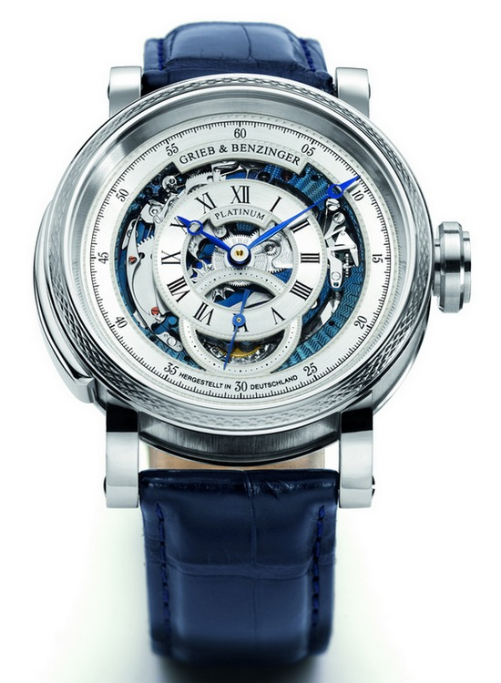"Grieb & Benzinger ""Blue Whirlwind"" Tourbillon Minute Repeater Watch"