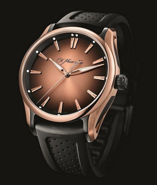 H. Moser & Cie. Pioneer Watch Red Gold Dial