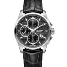Hamilton Jazzmaster Auto Chrono Watch - Black Dial and Leather Strap