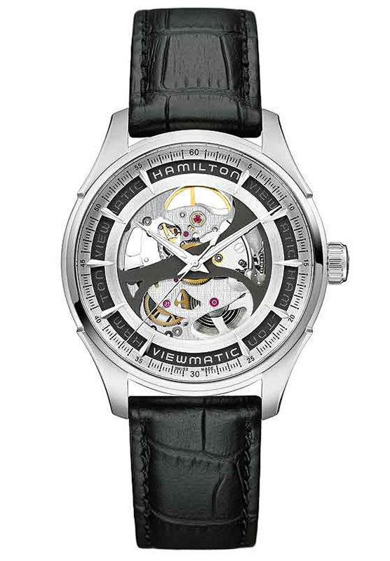 Hamilton Jazzmaster Viewmatic Skeleton Gents Leather Watch