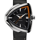 Hamilton Ventura Elvis80 Watch - Black Leather Strap