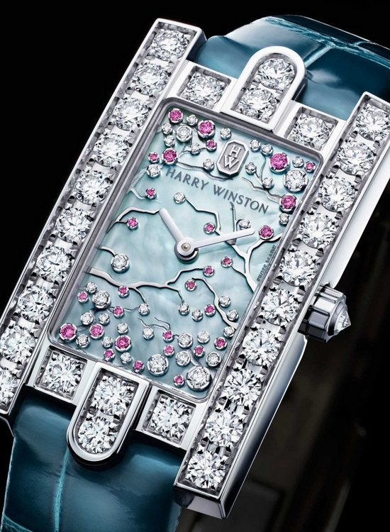 Harry Winston Avenue Classic Cherry Blossom Watch Dial