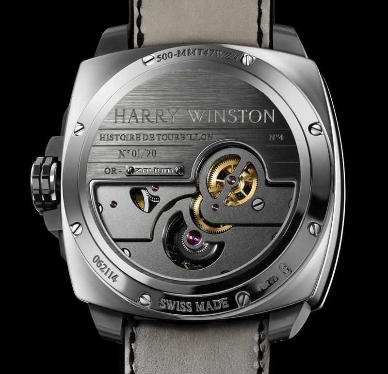 Harry Winston Histoire de Tourbillon 4 Watch Caseback
