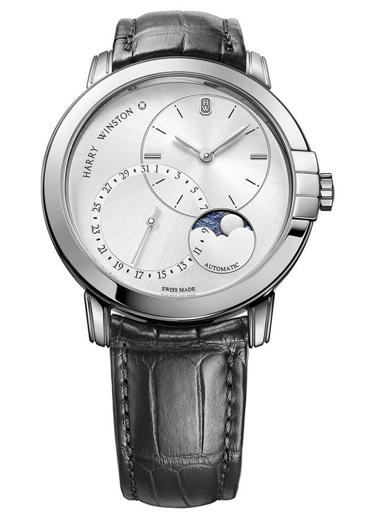 Harry Winston Midnight Date Moonphase Automatic 42mm White Gold Watch