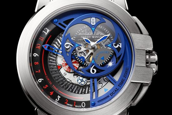 Harry Winston Ocean Dual Time Retrograde 2015 Only Watch Dial