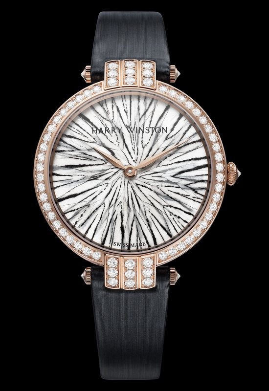 Harry Winston Premier Feathers Silvered Pheasant Watch