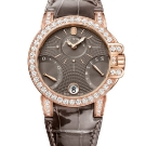 Harry Winston Ocean Biretrograde Watch Brown Leather