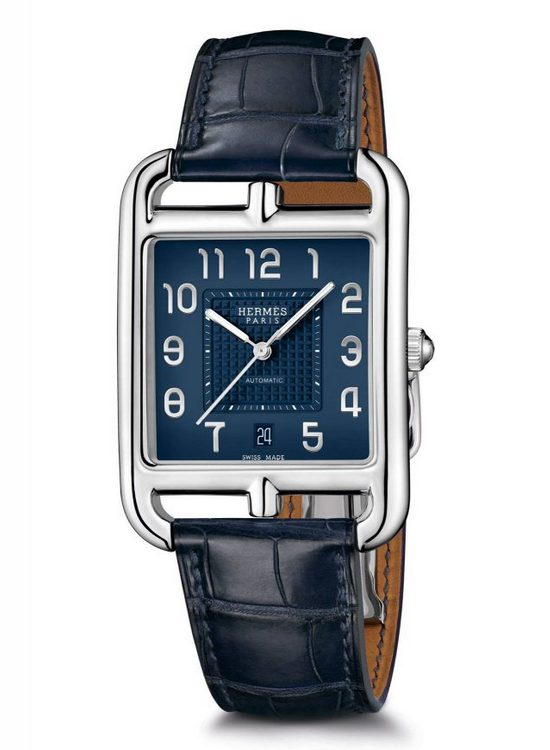 Hermès Cape Cod TGM Manufacture Watch Blue