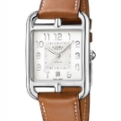 Hermès Cape Cod TGM Manufacture Watch Opaline Silvered