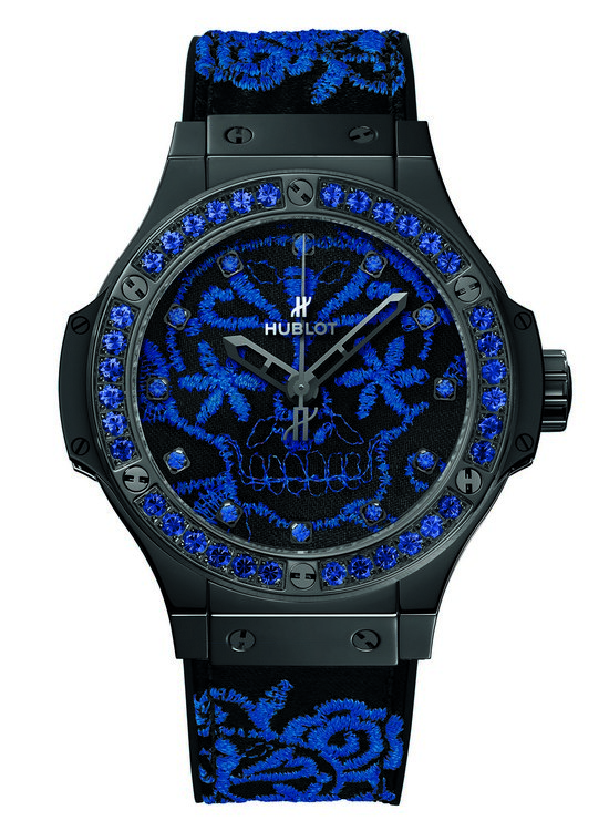 Hublot Big Bang Broderie Sugar Skull Fluo Cobalt Blue