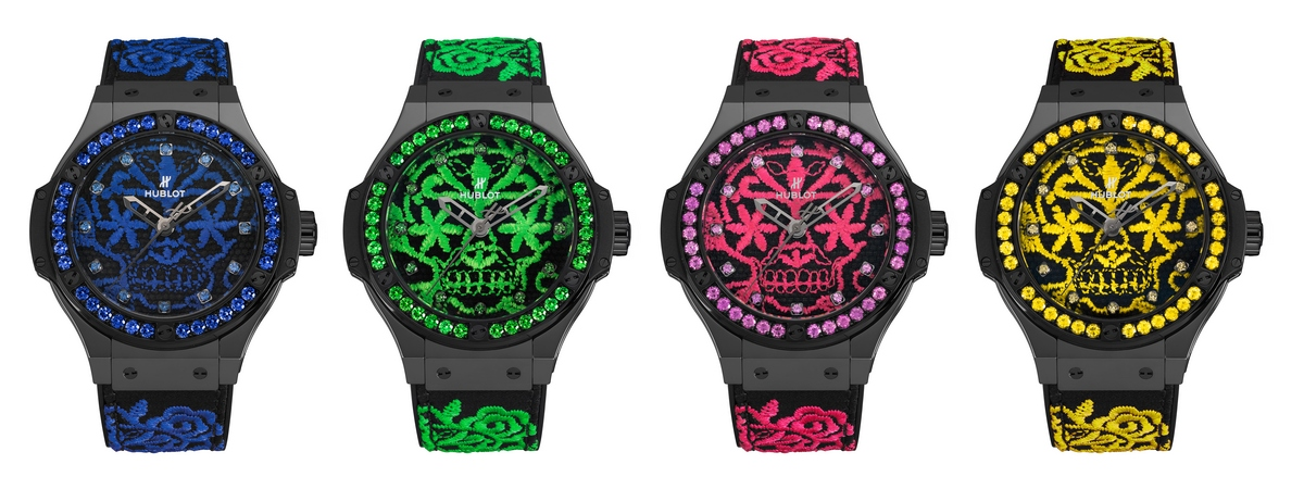 Hublot Big Bang Broderie Sugar Skull Fluo Watches
