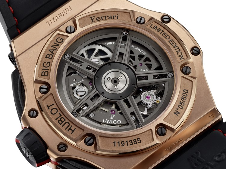 Hublot Big Bang Ferrari King Gold Watch Case Back