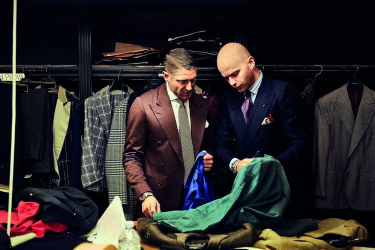 Lapo Elkann and Luca Rubinacci Looking for Fabric
