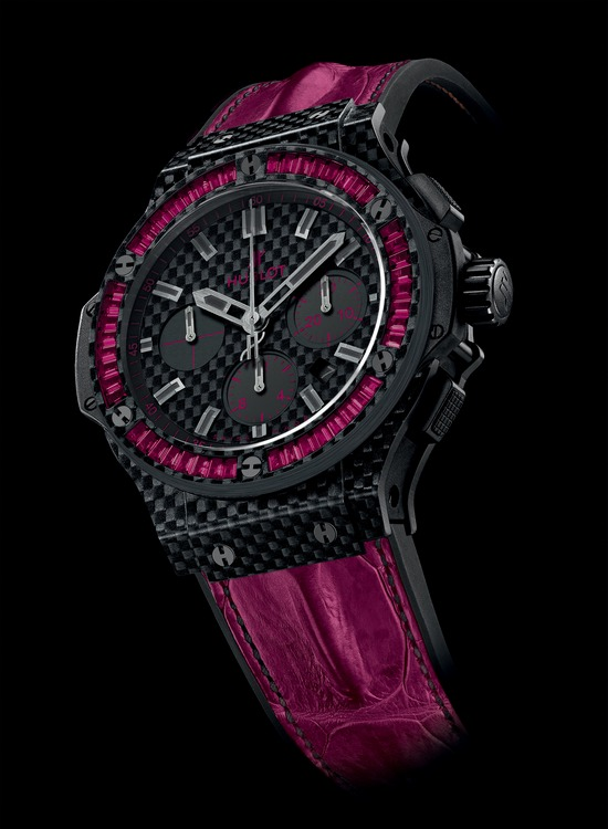 Hublot Big Bang Carbon Bezel Baguette Rubie Watch