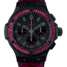 Hublot Big Bang Carbon Bezel Baguette Rubie Watch Front