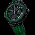 Hublot Big Bang Carbon Bezel Baguette Tsavorite Watch