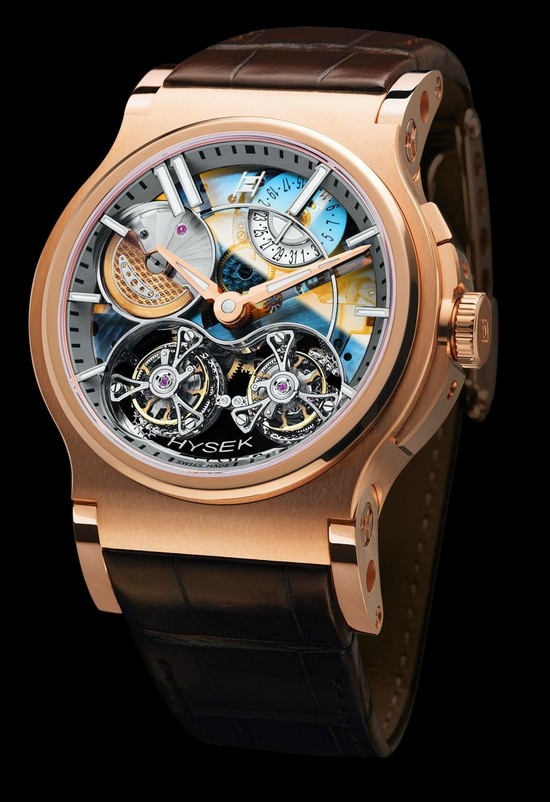 Hysek Verdict Double Tourbillon Sapphire Dial Watch