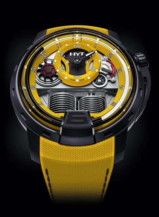 HYT H1 Colorblock Watch Yellow