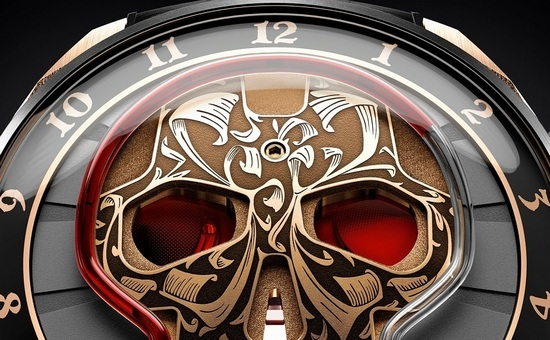 HYT Skull Maori Watch - Fluid Filled Hour Capillary