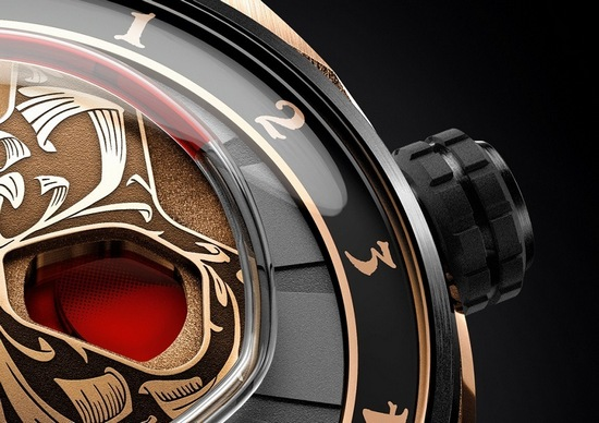 HYT Skull Maori Watch - Power Reserve Indicator