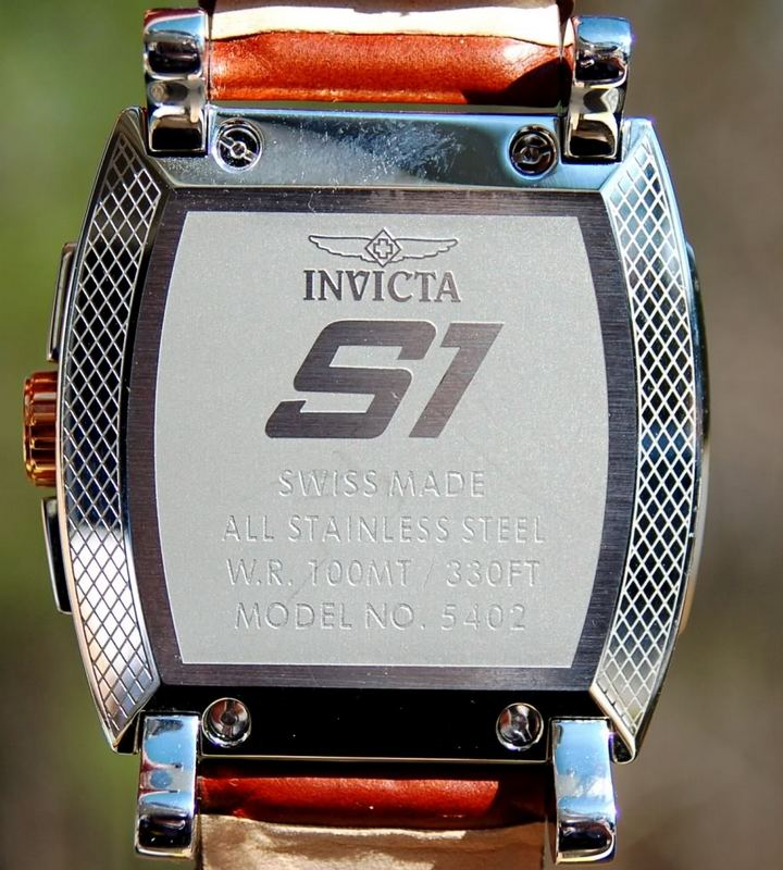 Invicta S1 Touring Edition Watch 5402 Caseback