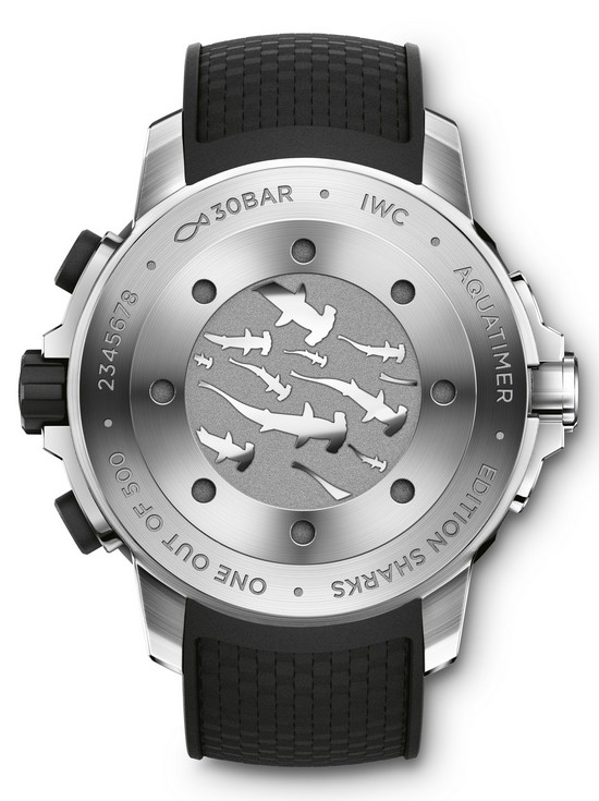 "IWC Aquatimer Chronograph Edition ""Sharks"" Case Back"