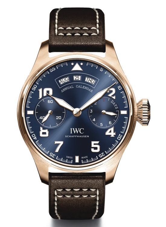 "IWC Big Pilot's Watch Annual Calendar Edition ""Le Petit Prince"" Blue Movement Watch"